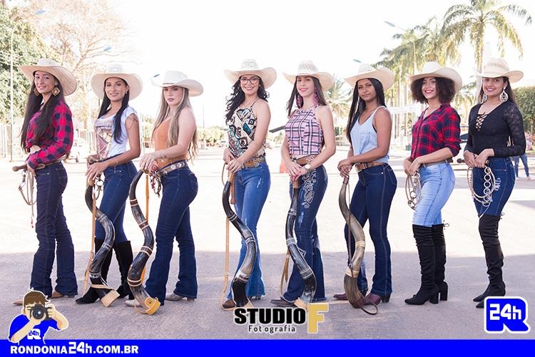 Candidatas a rainha do Rodeio da SIPERMONT