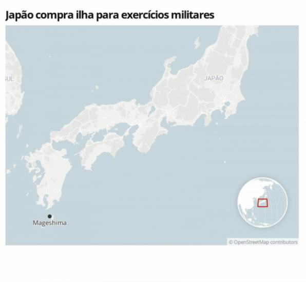 Japão comprará uma ilha para que os EUA realizem exercícios militares